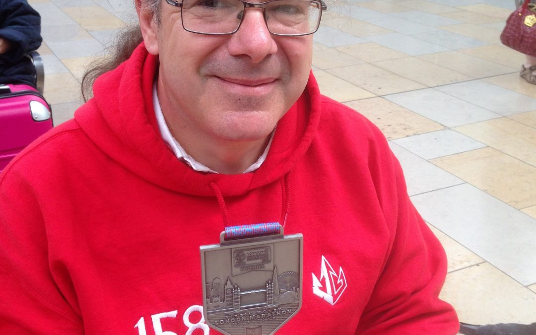 Aldo, our Training Manager, completes the London Marathon and raises 1k for the Welsh Air Ambulance