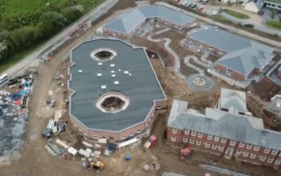 New drone footage of Ty Cwm Gwendraeth